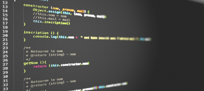 Développement d'applications : code internet coloré